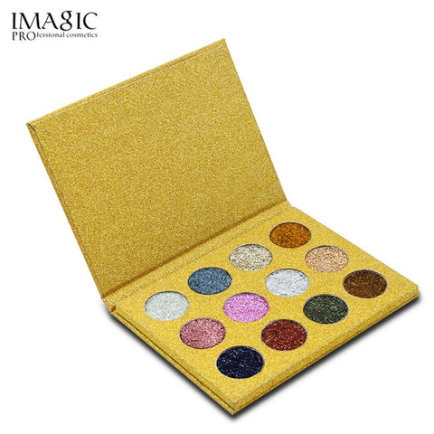 IMAGIC 12Colors Eye shadow Eyeshadow Palette Makeup Palette Cosmetics Glitters Eyeshadow Natural Long Lasting Eyeshadow Palette