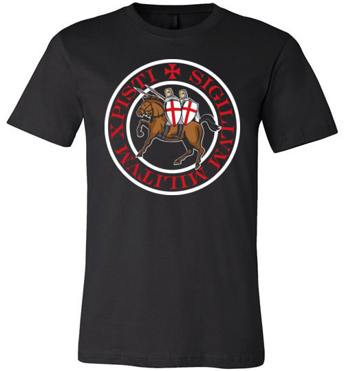 Knights Templar Seal Crest,v13a,Canvas Unisex T-Shirt