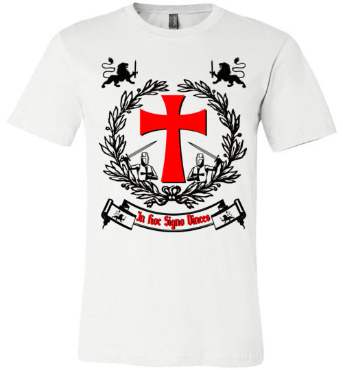 Knights Templar Crest In Hoc Signo Vinces,v23,Canvas Unisex T-Shirt