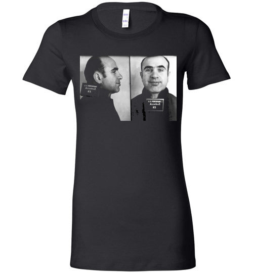 Al Capone Alcatraz Mugshot 1934 ,Scarface, Big Al, Big Boy, Public Enemy No. 1 , Chicago, Gangster, v1, Bella Ladies Favorite Tee
