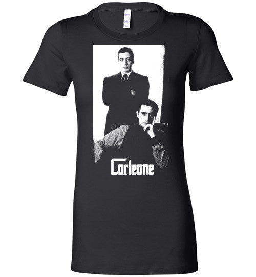 The Godfather Corleone Mafia Robert De Niro Al Pacino v2a , Bella Ladies Favorite Tee