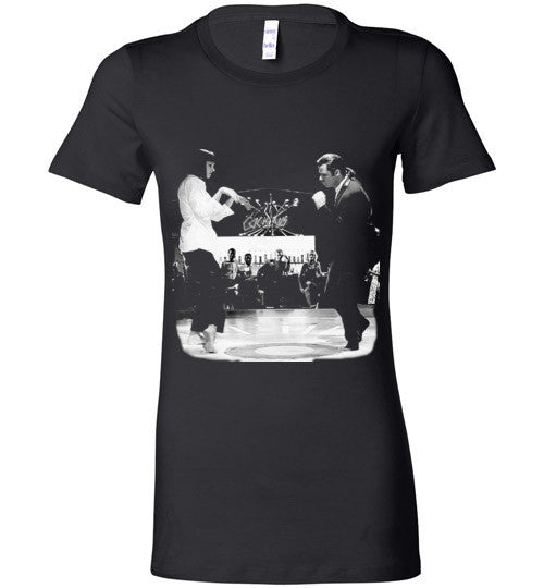 Pulp Fiction Dance, Quentin Tarantino,  John Travolta, Vincent & Mia , Bella Ladies Favorite Tee