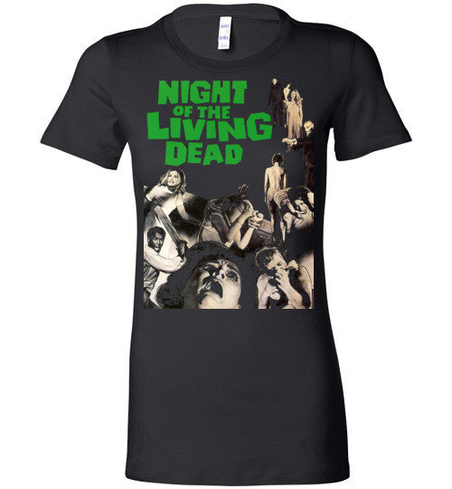Night Of The Living Dead Horror Zombie Splatter George Romero , Bella Ladies Favorite Tee