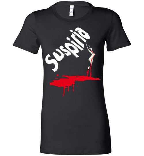 SUSPIRIA Dario Argento, Goblin , Italian Horror Movie , Bella Ladies Favorite Tee