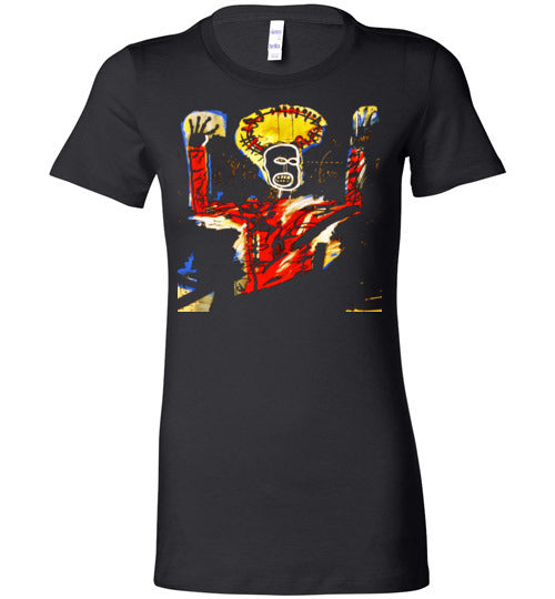 Basquiat Streetart,v15,Bella Ladies Favorite Tee