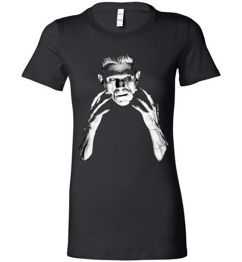 Frankenstein Movie Boris Karloff 1931  Bella Ladies Favorite Tee Black
