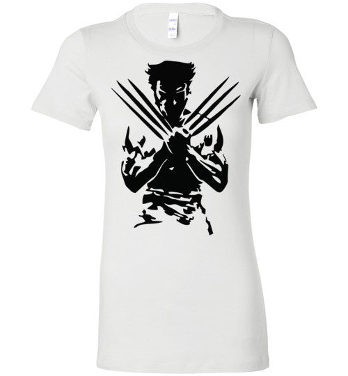 Logan Wolverine Xmen Marvel Super Hero v1, Bella Ladies Favorite Tee