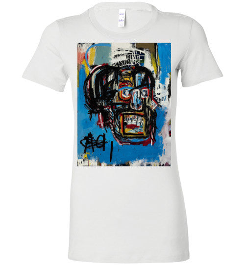 Jean Michel Basquiat Artist Graffiti , Bella Ladies Favorite Tee v1