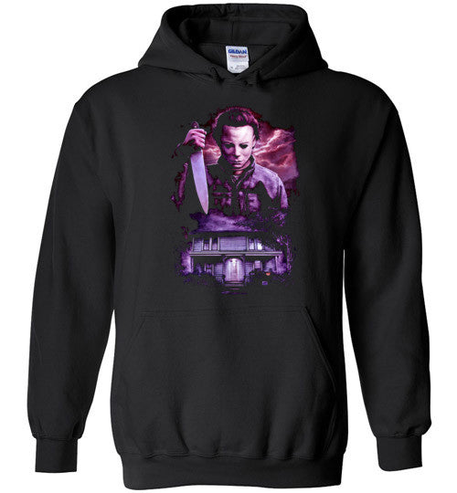 HALLOWEEN MICHAEL MYERS John Carpenter Classic Horror Movie v6, Gildan Heavy Blend Hoodie