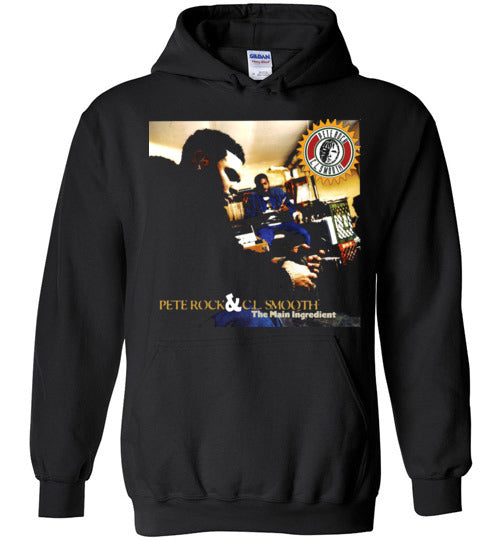 Pete Rock & CL Smooth,The Main Ingredient,1994,Album Cover,Classic Hip Hop,Beatmaker,v2,Gildan Heavy Blend Hoodie