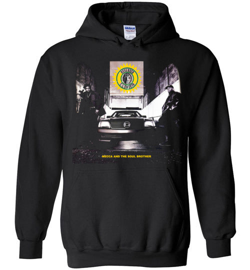 Pete Rock & CL Smooth,Mecca and the Soul Brother,1992,Album Cover,Classic Hip Hop,Beatmaker,v1,Gildan Heavy Blend Hoodie
