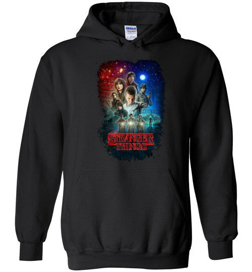 Stranger Things Tv Show/Sci Fi/ Netflix Series , v7, Gildan Heavy Blend Hoodie