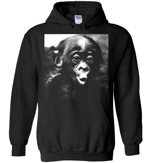 Monkey funny baby chimpanzee face,v1,Hoodie
