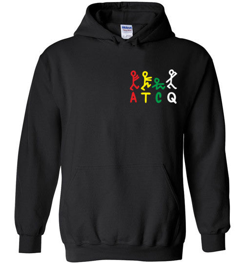 ATCQ A Tribe called Quest Classic Hip Hop New York City Low End Theory Phife Dawg Q-tip ,v8a, Gildan Heavy Blend Hoodie