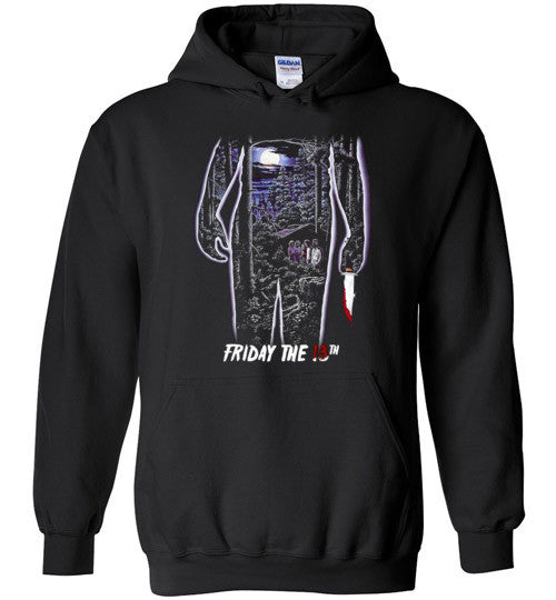 Friday the 13th Horror Movie Classics Vintage Shocker Splatter Gore Jason Voorhees , v4, Gildan Heavy Blend Hoodie