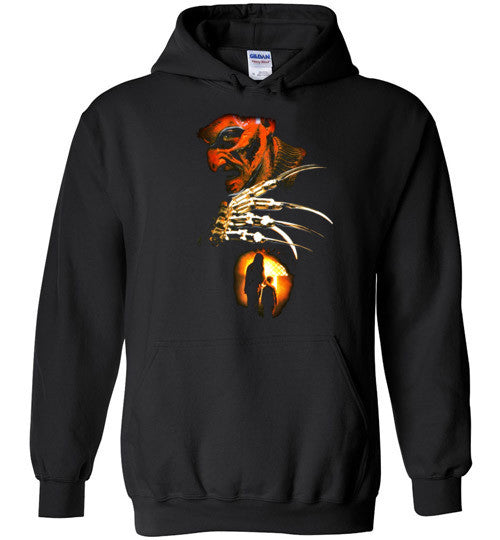 Nightmare on Elm Street Freddy Krueger Horror Movie , v6, Gildan Heavy Blend Hoodie