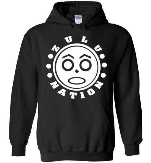 Afrika Bambaataa , Universal Zulu Nation,Old School Hip Hop, v3b, Gildan Heavy Blend Hoodie