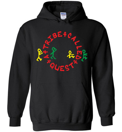 ATCQ A Tribe called Quest Classic Hip Hop New York City Low End Theory Phife Dawg Q-tip, v1a, Gildan Heavy Blend Hoodie