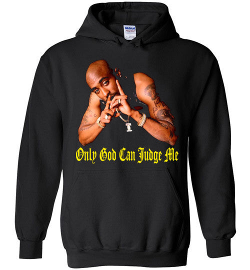 Tupac 2pac Shakur Makaveli Only God Can Judge Me v14, Gildan Heavy Blend Hoodie