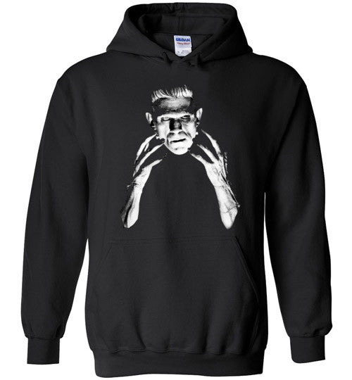 Frankenstein Movie Boris Karloff 1931  Gildan Heavy Blend Hoodie Black