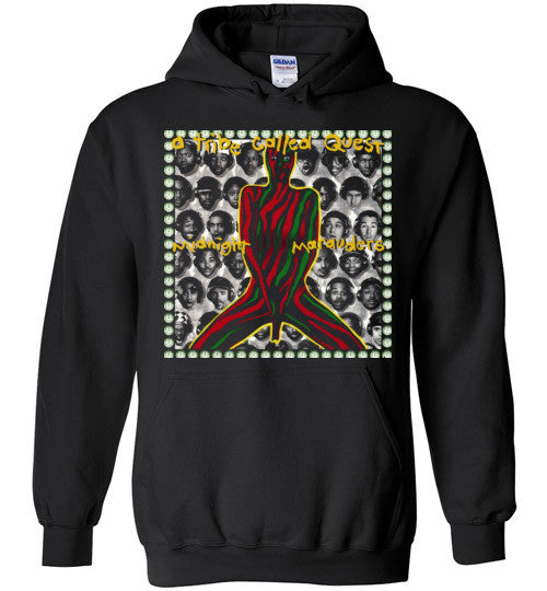 ATCQ A Tribe called Quest Classic Hip Hop New York City Midnight Marauders 1993 Phife Dawg Q-tip ,v5, Gildan Heavy Blend Hoodie