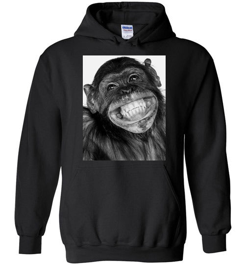Monkey funny chimpanzee happy smile face,v3,Hoodie