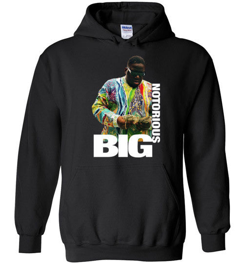 Notorious BIG Biggie Smalls Big Poppa Frank White Christopher Wallace,Bad Boy Records, Hip Hop New York Brooklyn,v8b, Gildan Heavy Blend Hoodie