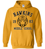 Stranger Things Hawkins Middle School 1983 , v1, Gildan Heavy Blend Hoodie