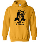 Notorious BIG Biggie Smalls Big Poppa Frank White Christopher Wallace,Bad Boy Records, It Was All A Dream,v6, Gildan Heavy Blend Hoodie