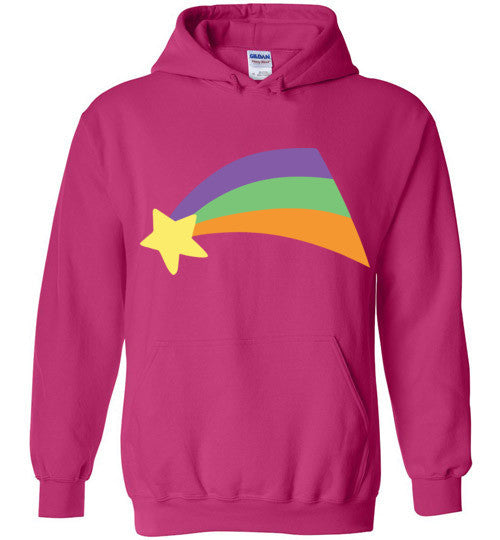 Mabel Pines Shooting Star Rainbow Gravity Falls Cosplay  Gildan Heavy Blend Hoodie
