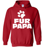 Fur Papa, Mens Funny , Gifts For Dads or Grandpas , Gildan Heavy Blend Hoodie