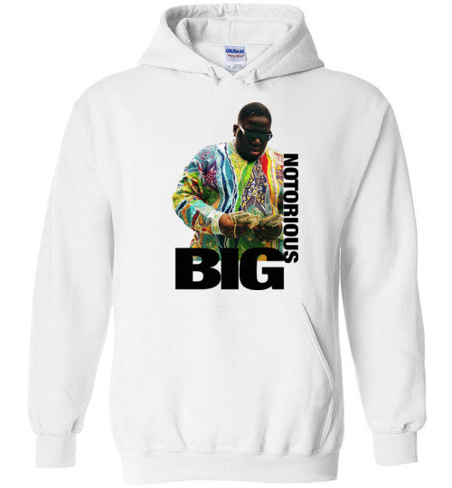 Notorious BIG Biggie Smalls Big Poppa Frank White Christopher Wallace,Bad Boy Records, Hip Hop New York Brooklyn,v8a, Gildan Heavy Blend Hoodie