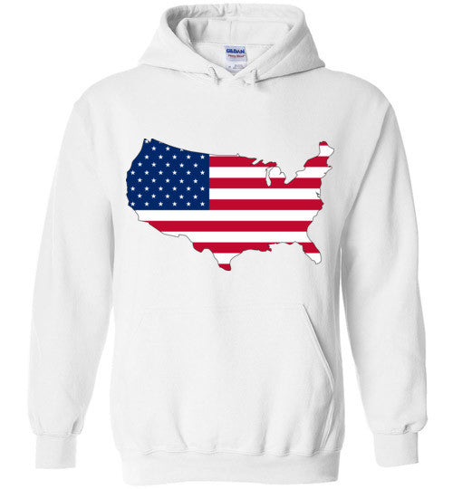 USA Flag 4th Of July Independence Day America Vintage American Flag v3 , Gildan Heavy Blend Hoodie
