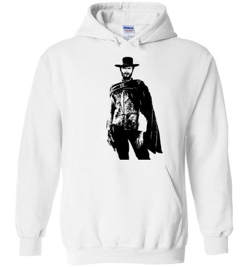 Clint Eastwood - The Man with No Name , v1 , Gildan Heavy Blend Hoodie