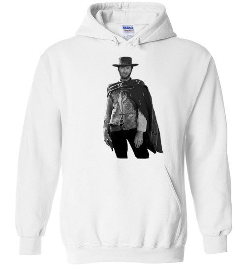 Clint Eastwood - The Man with No Name Spaghetti Western Sergio Leone The Good, the Bad and the Ugly ,v3, Gildan Heavy Blend Hoodie