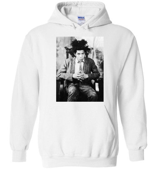 Jean Michel Basquiat 5 Artist Graffiti Icon Art Genius Designer , Gildan Heavy Blend Hoodie