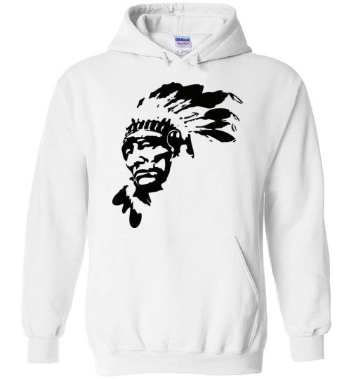Native American Indian Chief , Gildan Heavy Blend Hoodie