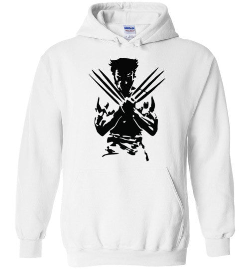Logan Wolverine Xmen Marvel Super Hero v1, Gildan Heavy Blend Hoodie