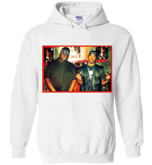 Tupac 2pac Shakur Makaveli Biggie Death Row hiphop v6, Gildan Heavy Blend Hoodie