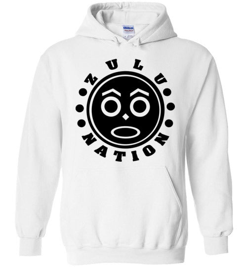 Afrika Bambaataa ,Universal Zulu Nation,Old School Hip Hop, v3a, Gildan Heavy Blend Hoodie