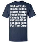 "The Office TV Show Michael Scott Race For The Cure ""Meredith Rabies Awareness Fun Run"" , Gildan Short-Sleeve T-Shirt"