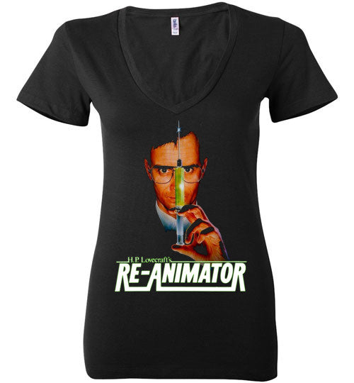 Re-animator H. P. Lovecraft , Bella Ladies Deep V-Neck , v3