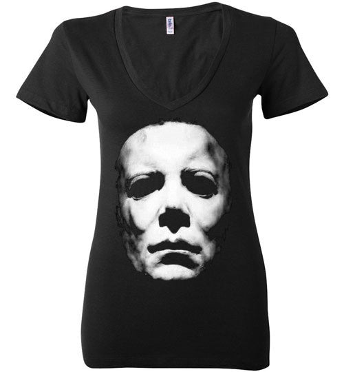 HALLOWEEN MICHAEL MYERS John Carpenter v2, Bella Ladies Deep V-Neck