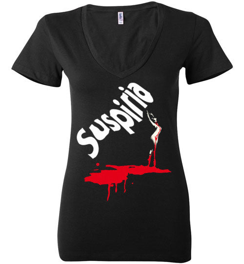 SUSPIRIA Dario Argento, Goblin , Italian Horror Movie , Bella Ladies Deep V-Neck