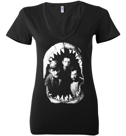 JAWS Movie Rare Vintage Style , Bella Ladies Deep V-Neck