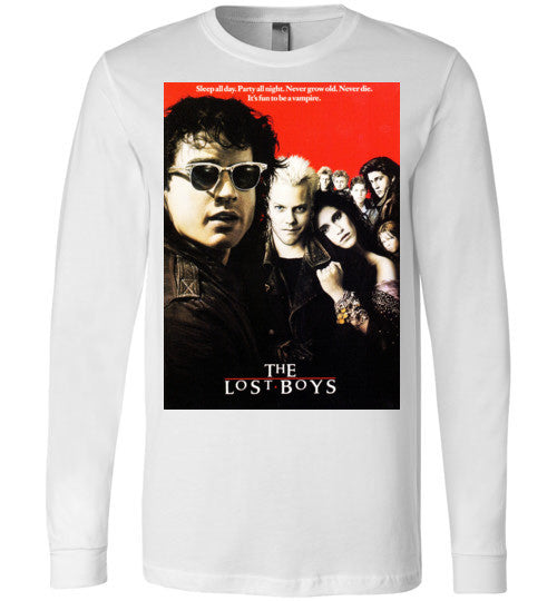 The Lost Boys vintage Vampires Horror Movie , v4 , Canvas Long Sleeve T-Shirt