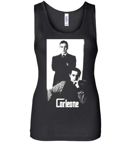 The Godfather Corleone Mafia Robert De Niro Al Pacino v2a , Bella Wide Strap Tank