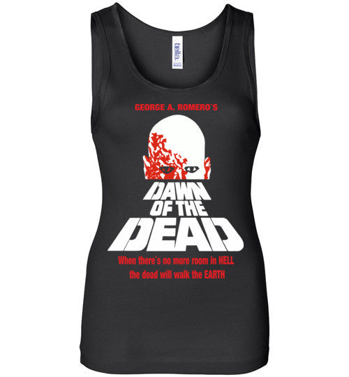 Dawn of the Dead vintage retro classic horror movie zombie , Bella Wide Strap Tank