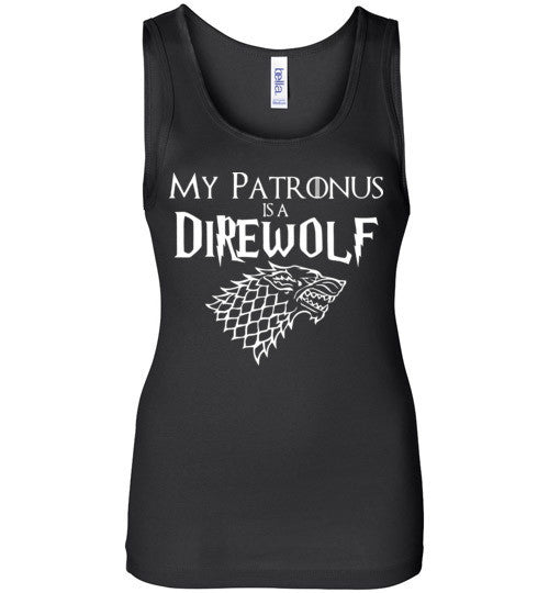 Game Of Thrones , Harry Potter My Patronus is a Direwolf , Bella Wide Strap Tank