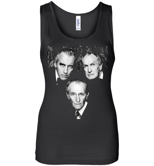Christopher Lee Vincent Price and Peter Cushing Dracula Vampire Cult Movie Horror Classic , Bella Wide Strap Tank